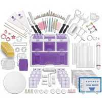 Wilton New Ultimate Professional Tool Caddy Cake Decorating Set Purple Color