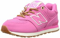 New Balance Girls' KL574V1 Sneakers, Pink, 4.5 W US Big Kid