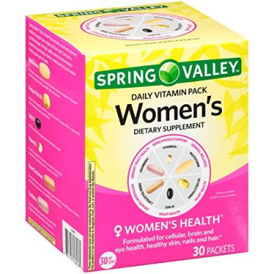Spring Valley Women S Daily Vitamin Pack Dietary Supplement 30 Ct Box