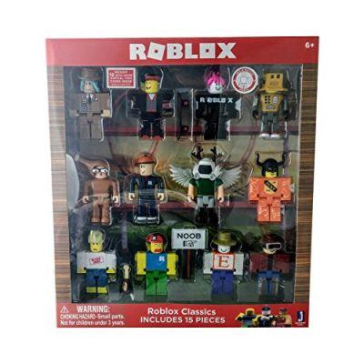 Noob Figure Roblox Toys Roblox Series 1 Classics 12 Figure Pack Includes Builderman